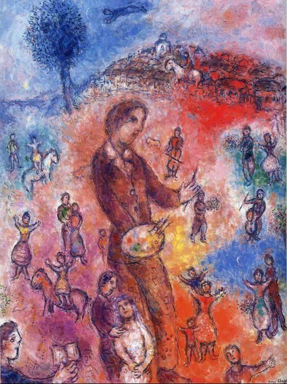 Artist at a festival 1982 - by Marc Chagall
