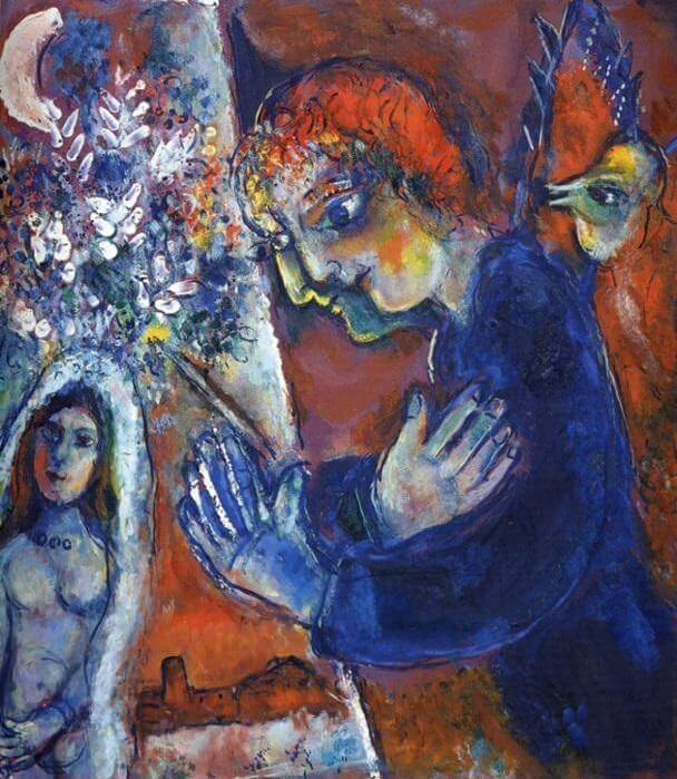 Artist at easel 1959 - by Marc Chagall