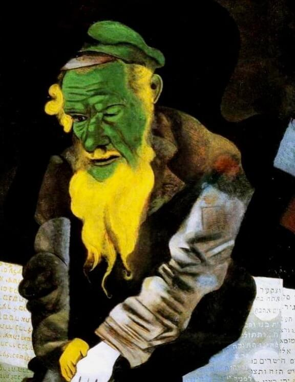 Jew in Green, 1914 - by Marc Chagall