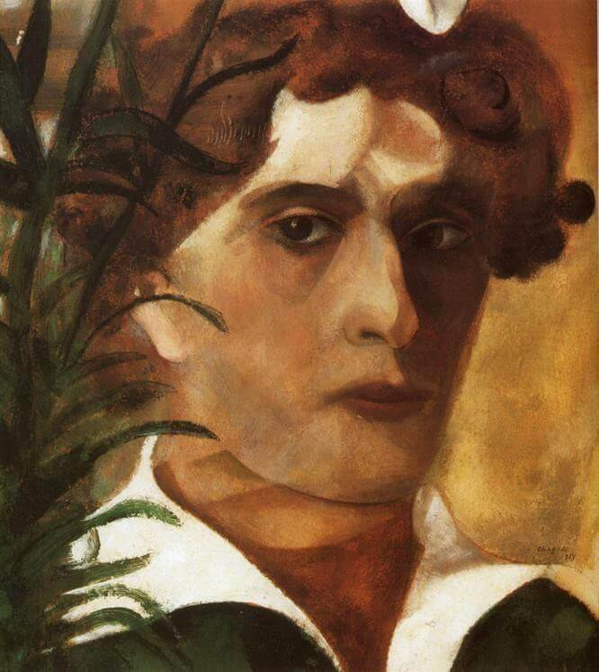 Self portrait 1914 - by Marc Chagall