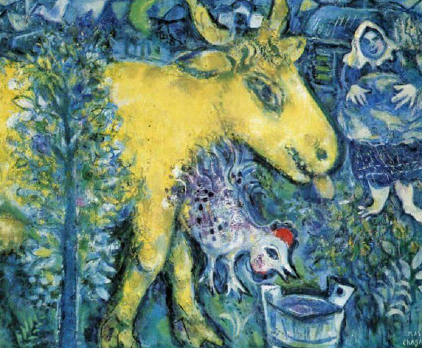 The Farmyard, 1954 - by Marc Chagall