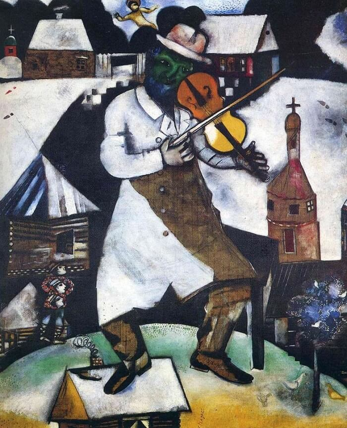 The Fiddler, 1913 by Marc Chagall
