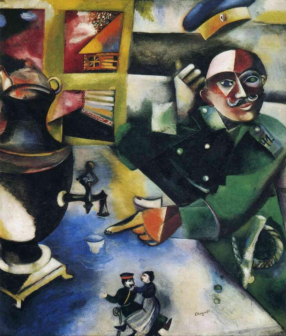 The Soldier Drinks, 1911-12 by Marc Chagall