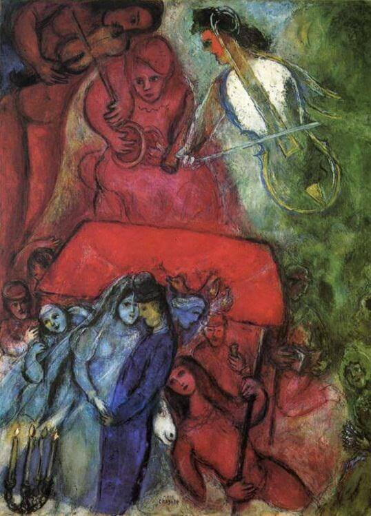 The Wedding, 1944 by Marc Chagall