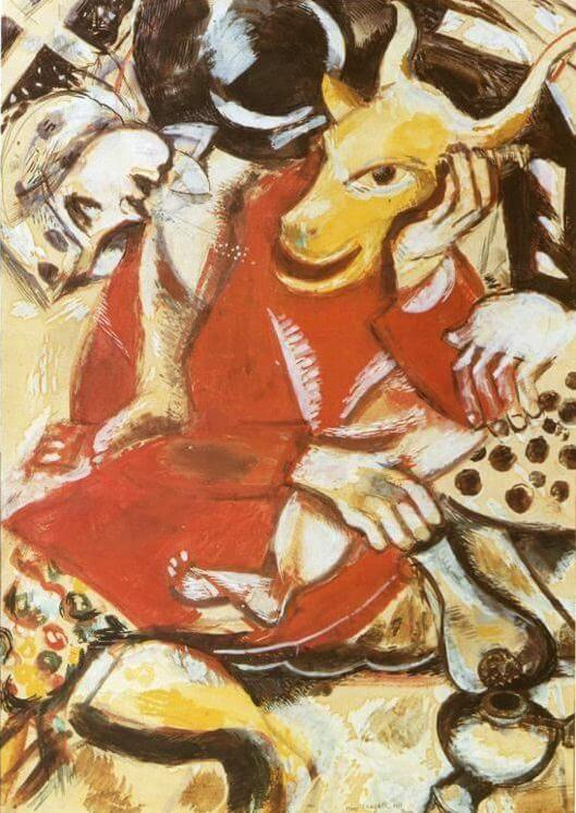 To my betrothed, 1911 - by Marc Chagall
